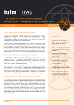 Policy-driven Automation, RWE Case Study