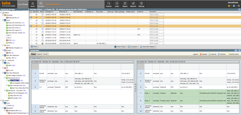 Central change monitoring allows identifying and controlling rogue changes across the hybrid network